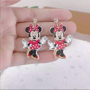 Jewelry - Brand New Minnie Mouse  Rhinestone Drop Earrings